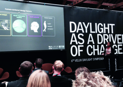 Communication to other experts (here at the Velux Daylight Symposium 2015 in London).