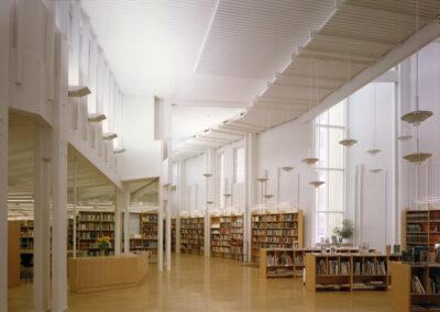 Vallila Library, Helsinki, FI by Juha Leiviska, The Daylight Award 2020 Laureate, photo by Arno de la Chapelle